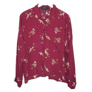Forever21 | Floral Boxy Button Front Shirt Top 1X